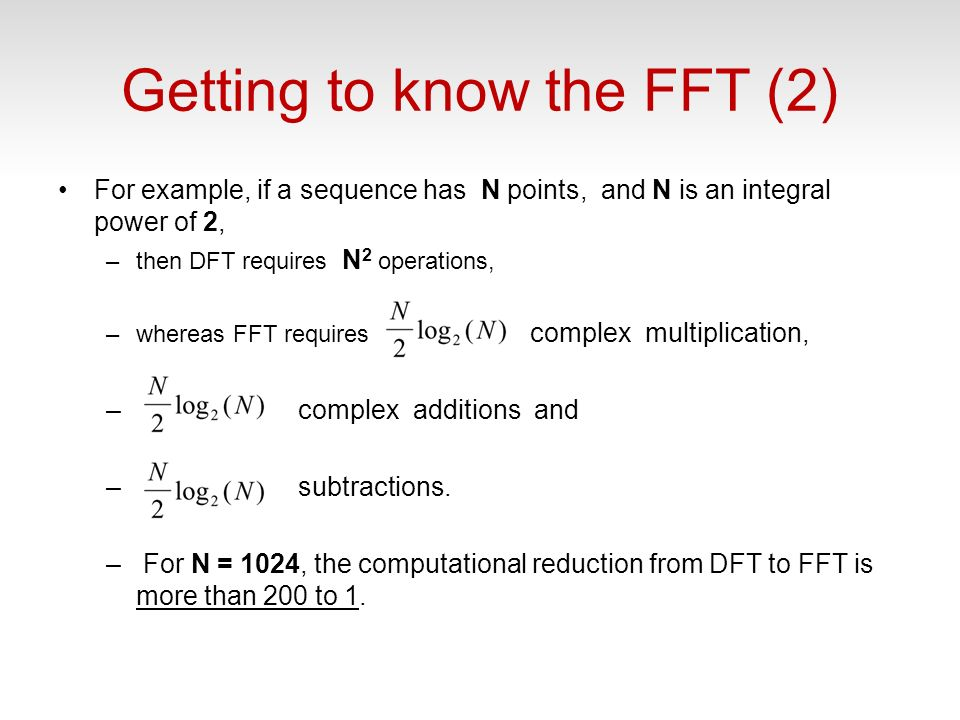 Getting to know the FFT (2)