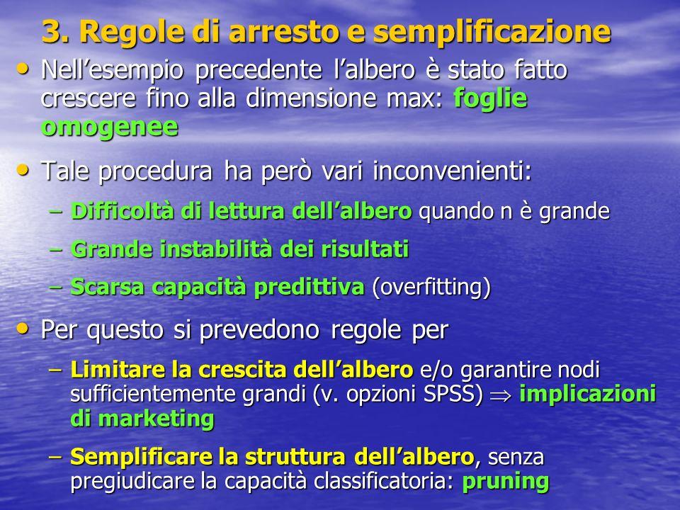 3. Regole di arresto e semplificazione