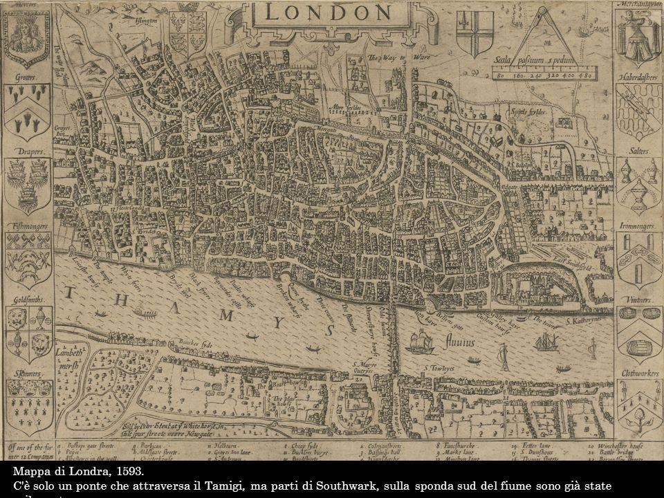 Mappa di Londra, 1593.