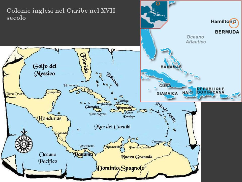 Colonie inglesi nel Caribe nel XVII secolo
