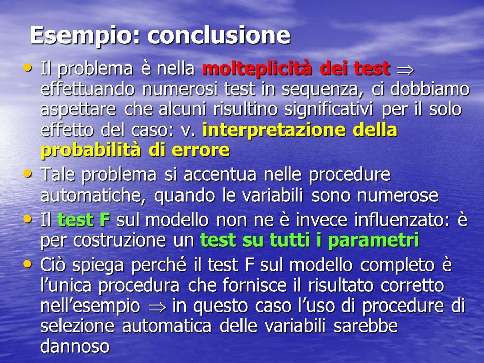 Esempio: conclusione