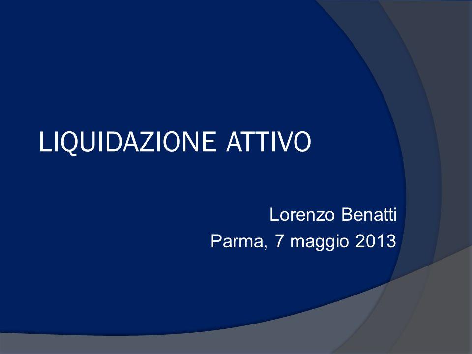 Lorenzo Benatti Parma, 7 maggio 2013