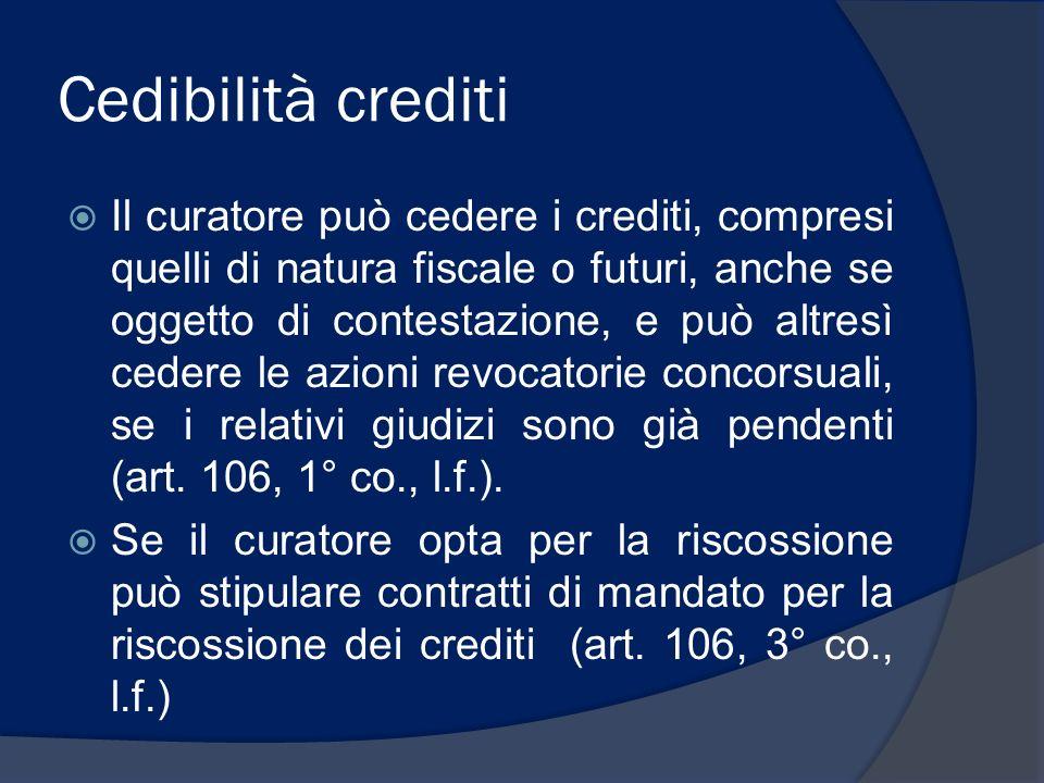 Cedibilità crediti