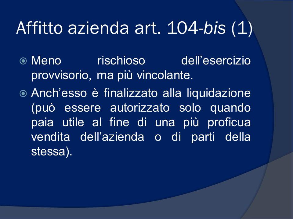 Affitto azienda art. 104-bis (1)
