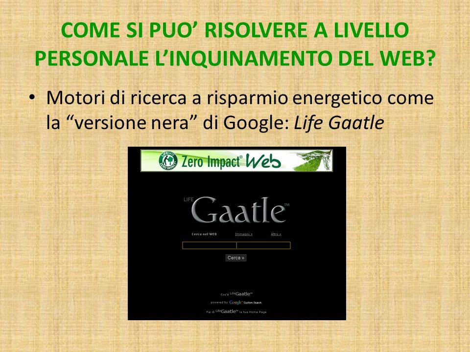 COME SI PUO' RISOLVERE A LIVELLO PERSONALE L'INQUINAMENTO DEL WEB