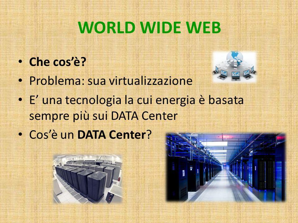WORLD WIDE WEB Che cos'è Problema: sua virtualizzazione