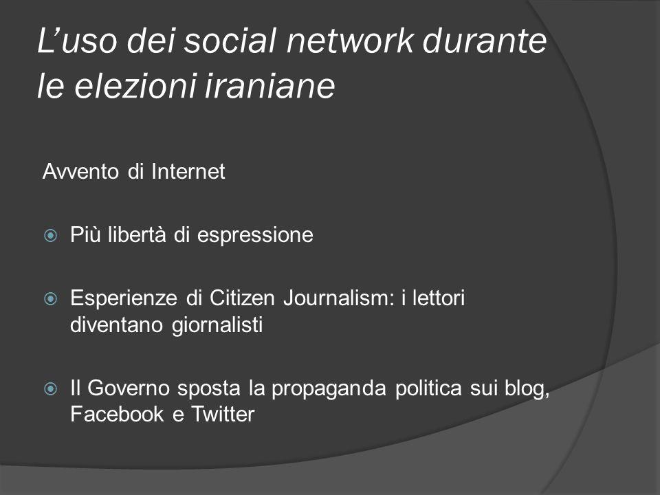 L'uso dei social network durante le elezioni iraniane