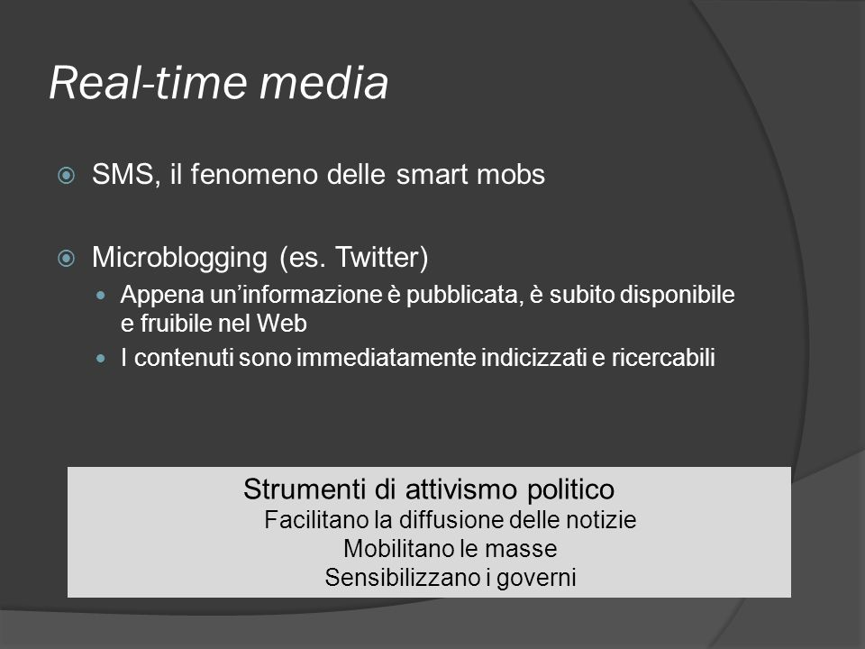 Real-time media SMS, il fenomeno delle smart mobs