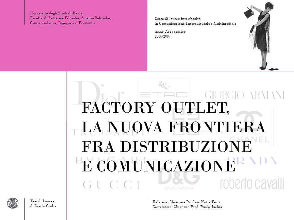 FACTORY OUTLET, LA NUOVA FRONTIERA FRA DISTRIBUZIONE E COMUNICAZIONE