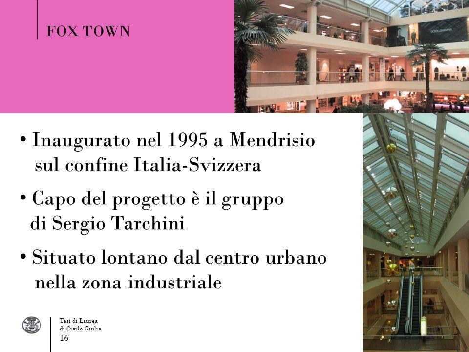 Inaugurato nel 1995 a Mendrisio sul confine Italia-Svizzera
