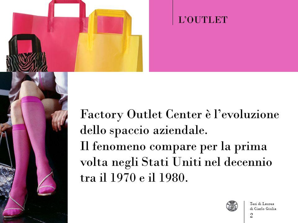 Factory Outlet Center è l'evoluzione dello spaccio aziendale.