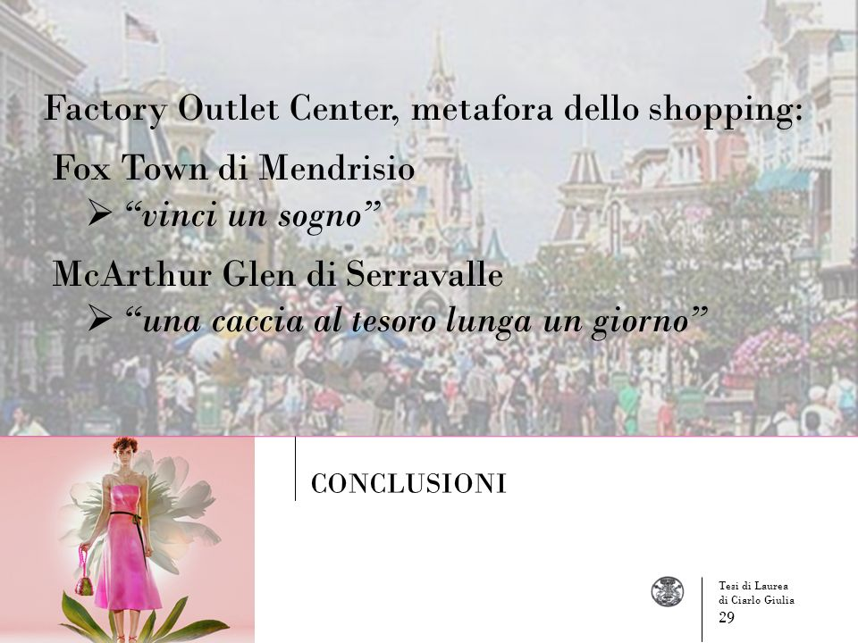 Factory Outlet Center, metafora dello shopping: Fox Town di Mendrisio