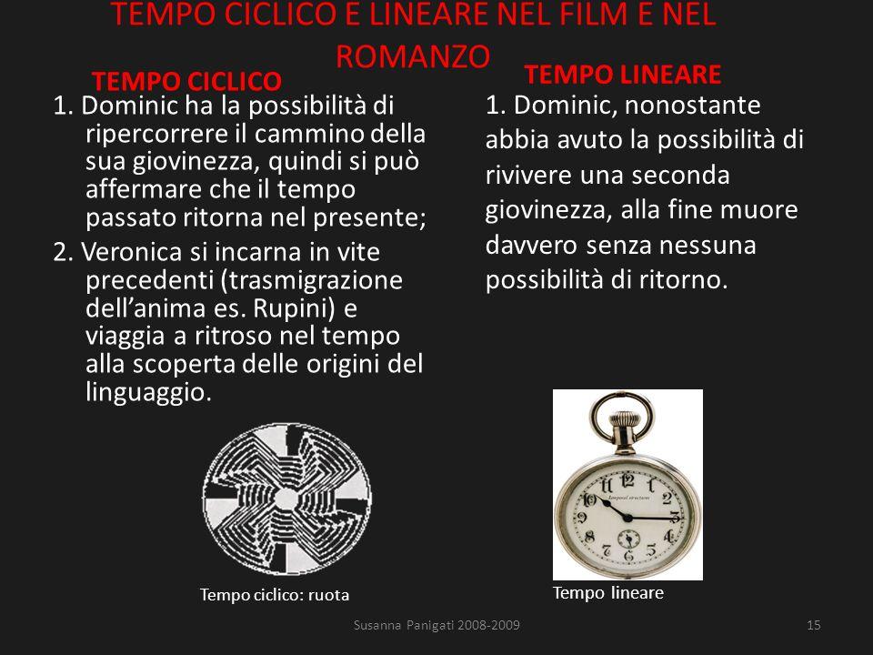 TEMPO CICLICO E LINEARE NEL FILM E NEL ROMANZO