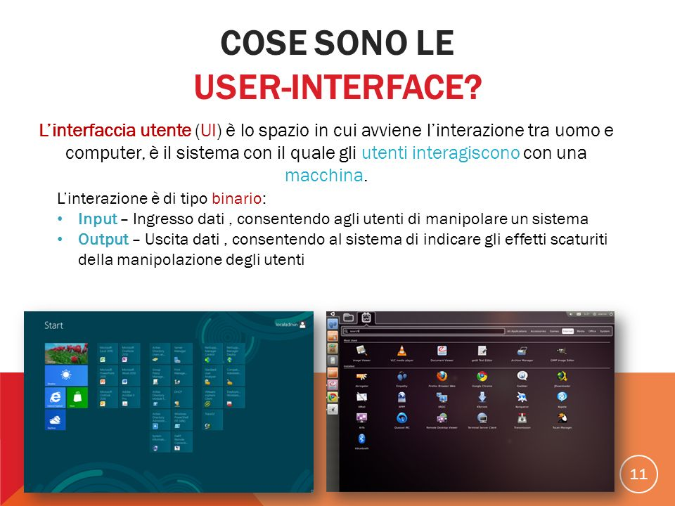 Cose sono le User-Interface