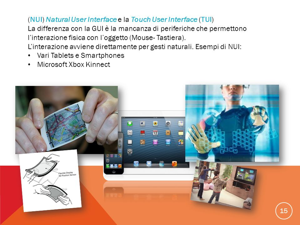 (NUI) Natural User Interface e la Touch User Interface (TUI)