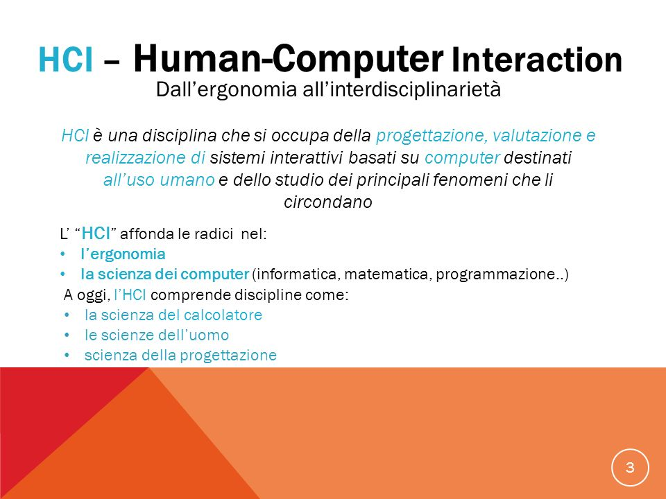 HCI – Human-Computer Interaction