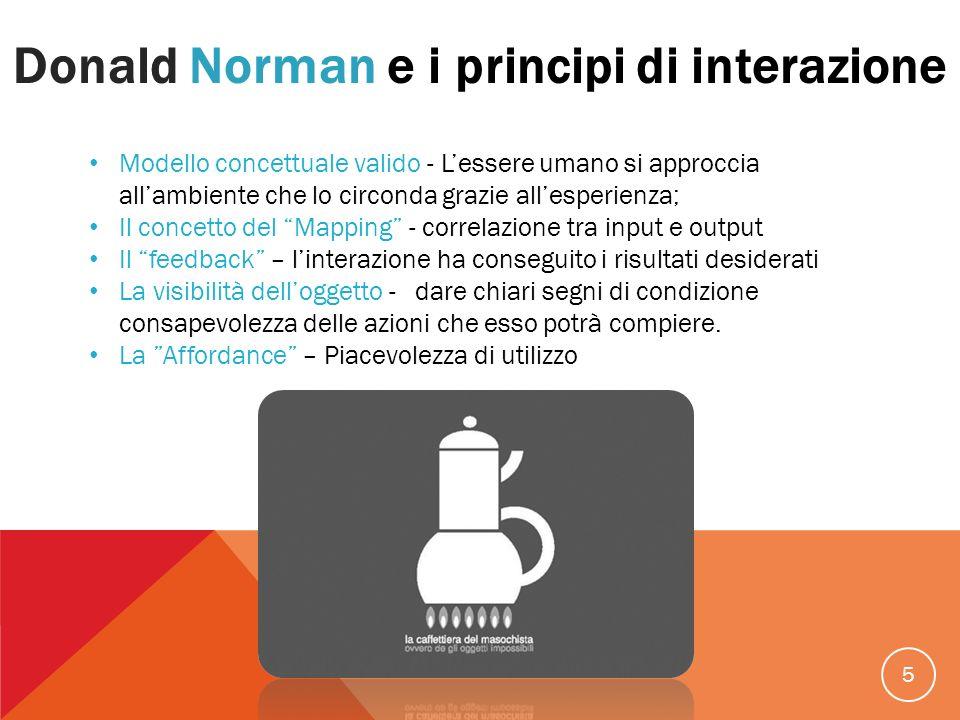 Donald Norman e i principi di interazione