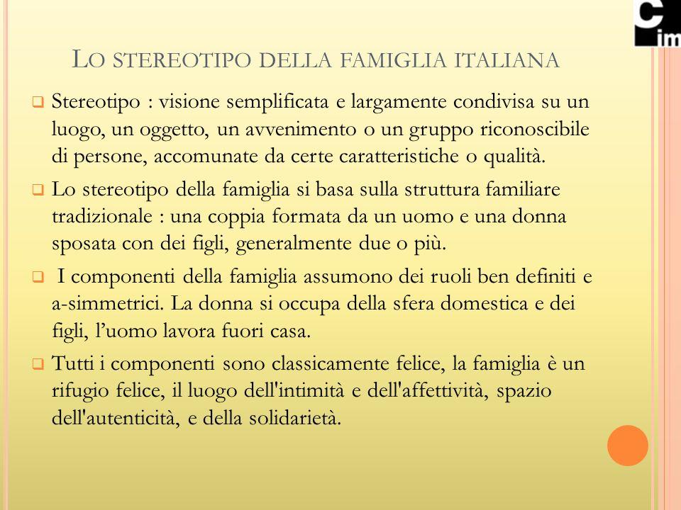 Lo stereotipo della famiglia italiana
