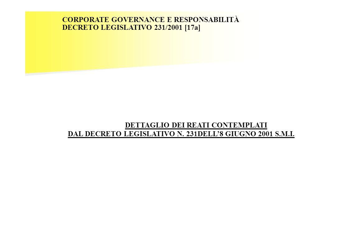 DAL DECRETO LEGISLATIVO N. 231DELL'8 GIUGNO 2001 S.M.I.