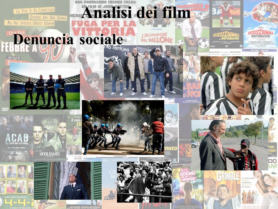 Analisi dei film Denuncia sociale