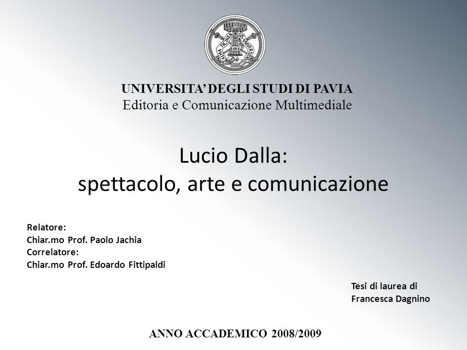 Lucio Dalla: spettacolo, arte e comunicazione