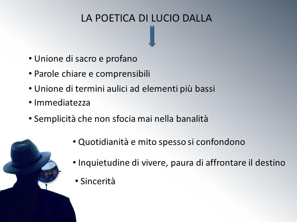LA POETICA DI LUCIO DALLA