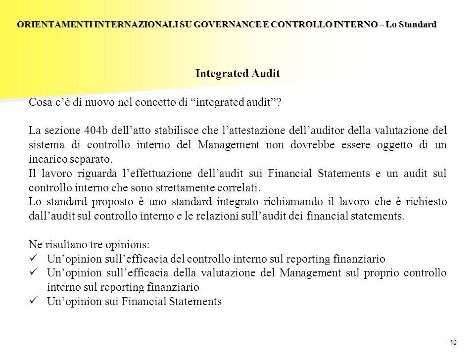Cosa c'è di nuovo nel concetto di integrated audit