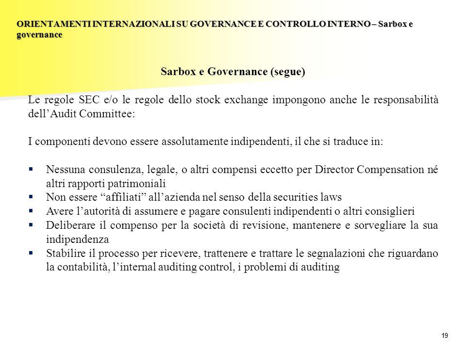 Sarbox e Governance (segue)