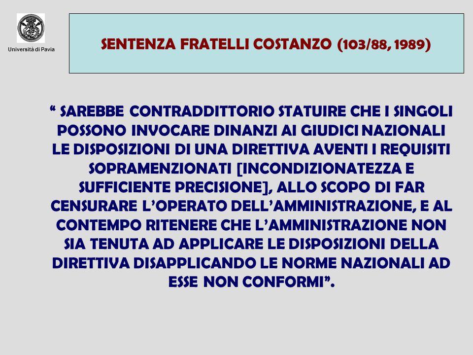 SENTENZA FRATELLI COSTANZO (103/88, 1989)