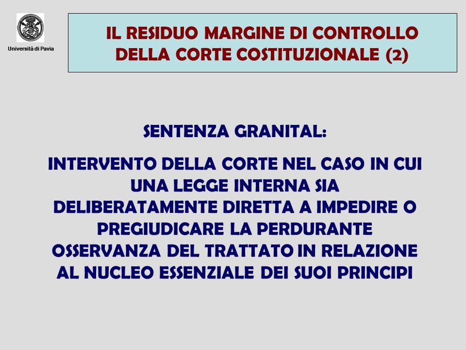 IL RESIDUO MARGINE DI CONTROLLO DELLA CORTE COSTITUZIONALE (2)