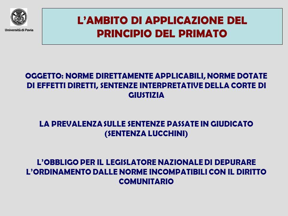 LA PREVALENZA SULLE SENTENZE PASSATE IN GIUDICATO (SENTENZA LUCCHINI)