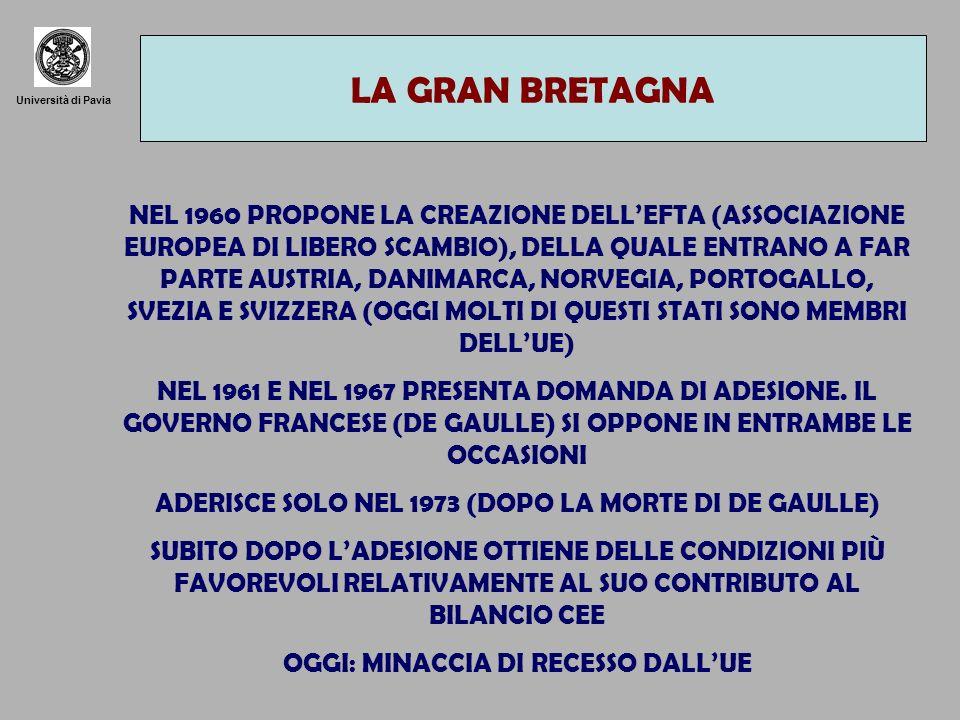 LA GRAN BRETAGNA Università di Pavia.