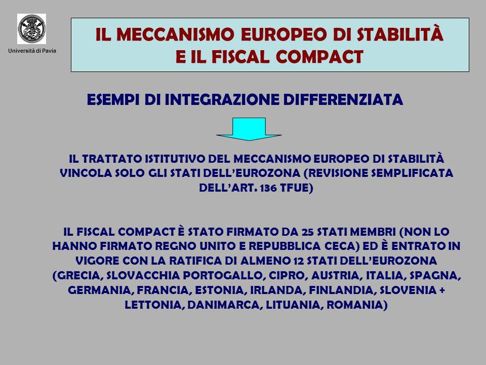 IL MECCANISMO EUROPEO DI STABILITÀ E IL FISCAL COMPACT