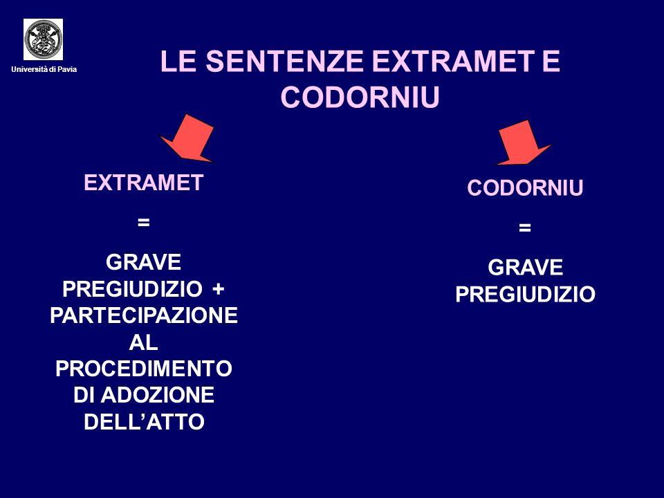 LE SENTENZE EXTRAMET E CODORNIU