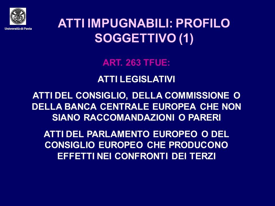 ATTI IMPUGNABILI: PROFILO SOGGETTIVO (1)