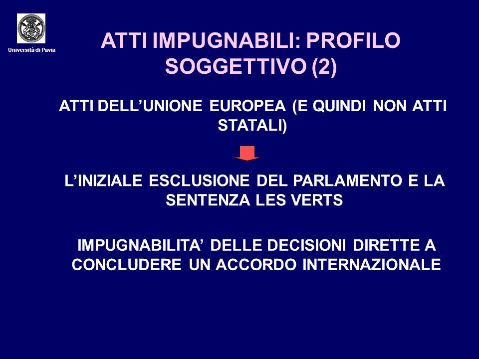 ATTI IMPUGNABILI: PROFILO SOGGETTIVO (2)