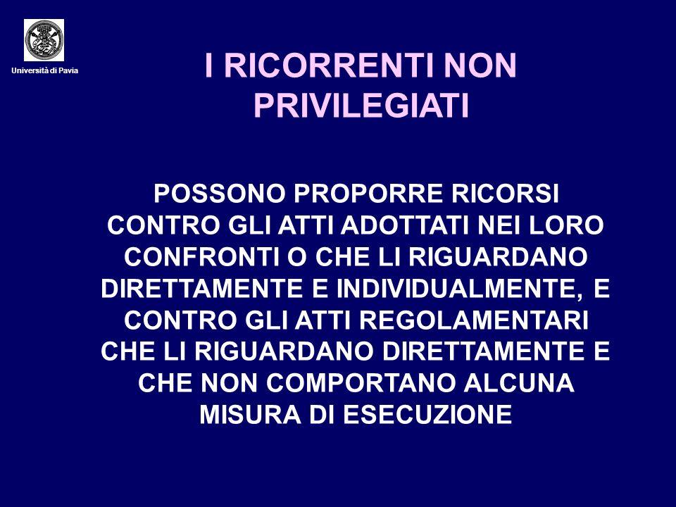 I RICORRENTI NON PRIVILEGIATI
