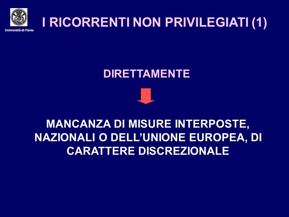 I RICORRENTI NON PRIVILEGIATI (1)