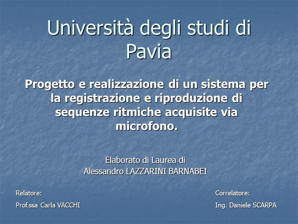 Elaborato di Laurea di Alessandro LAZZARINI BARNABEI
