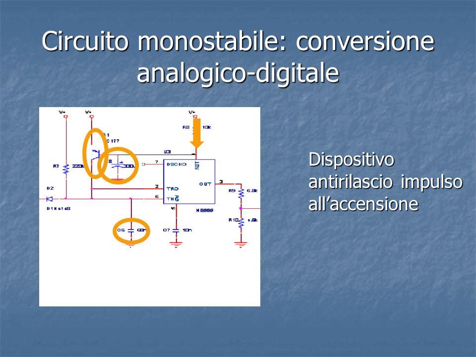 Circuito monostabile: conversione analogico-digitale