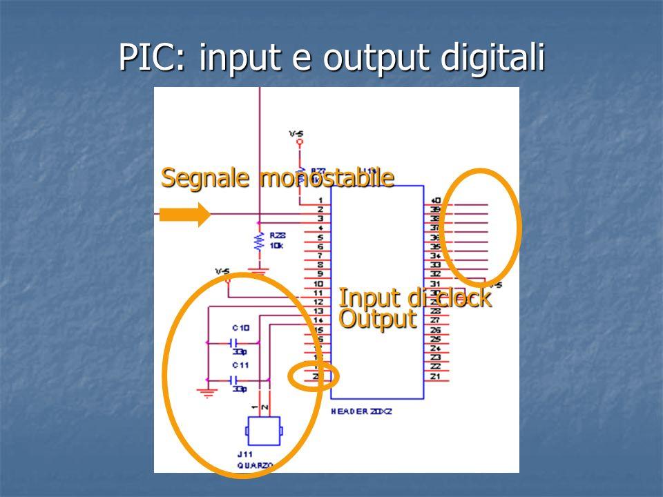 PIC: input e output digitali