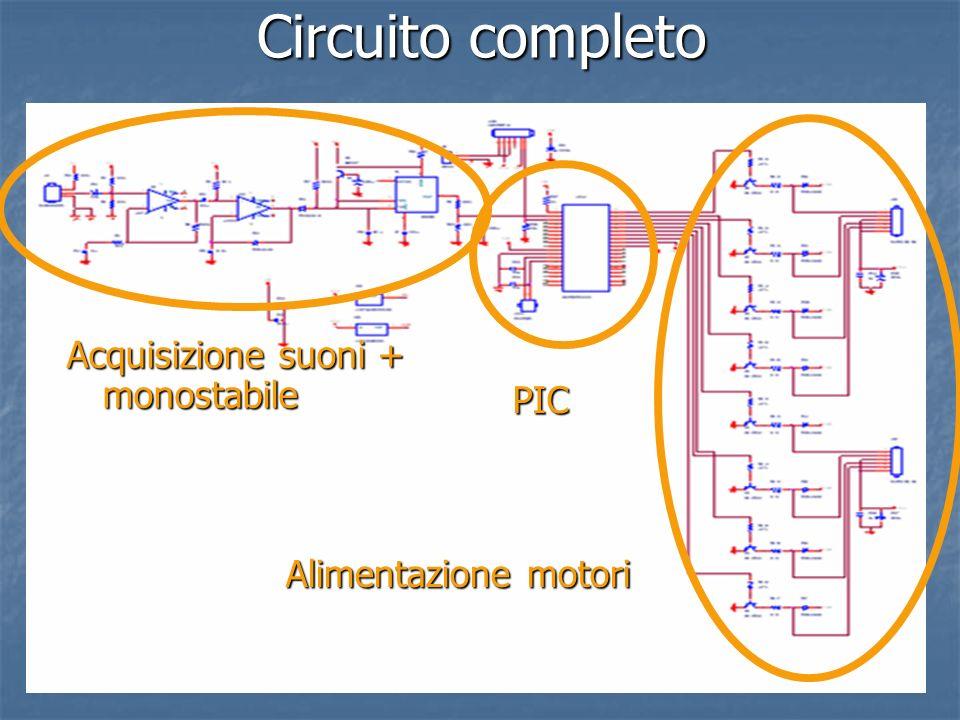Circuito completo Acquisizione suoni + monostabile PIC