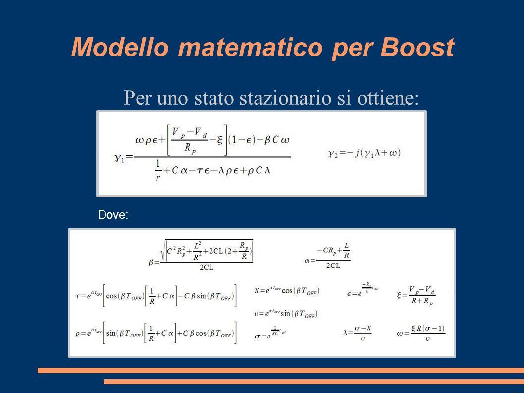 Modello matematico per Boost