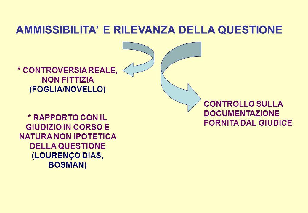 * CONTROVERSIA REALE, NON FITTIZIA (FOGLIA/NOVELLO)