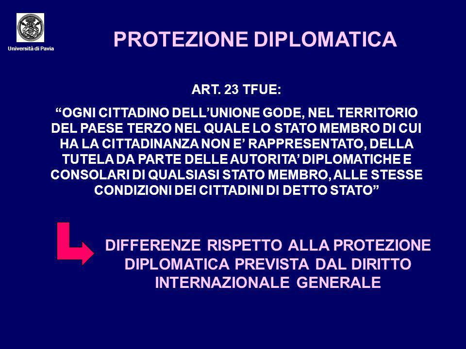 PROTEZIONE DIPLOMATICA