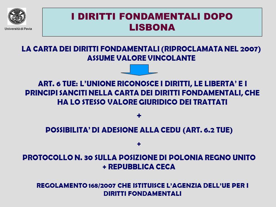 POSSIBILITA' DI ADESIONE ALLA CEDU (ART. 6.2 TUE)