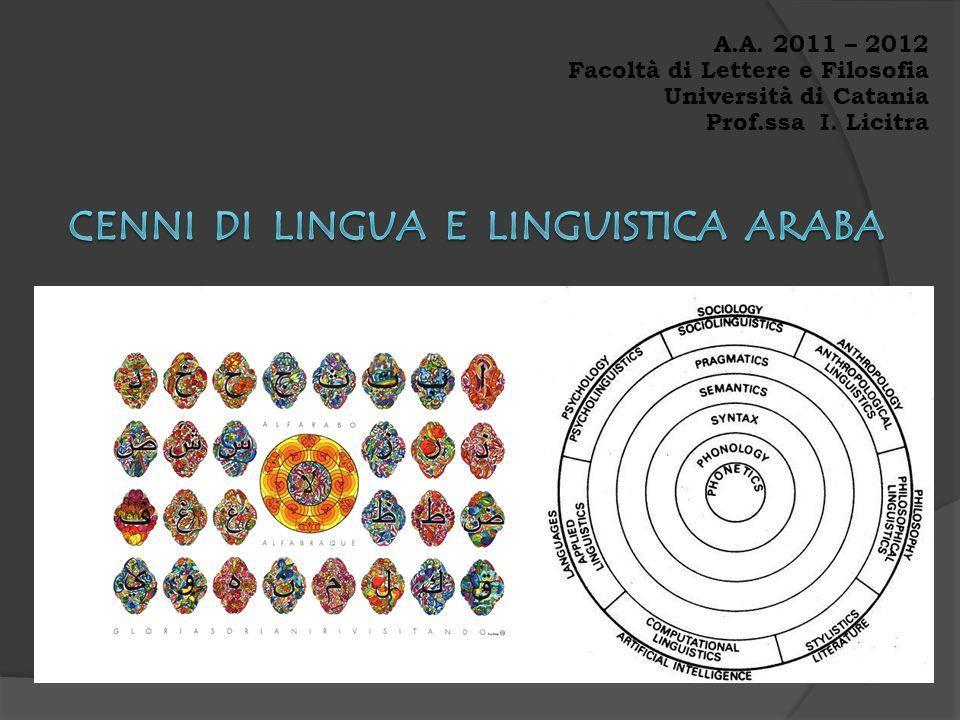Cenni di Lingua e linguistica Araba