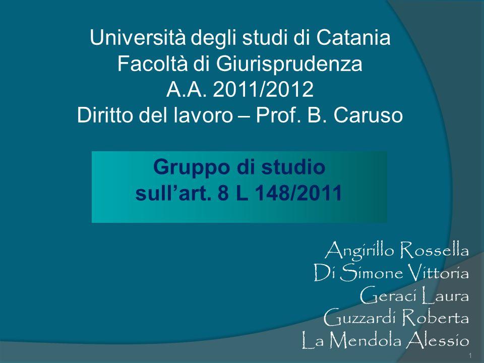 Gruppo di studio sull'art. 8 L 148/2011