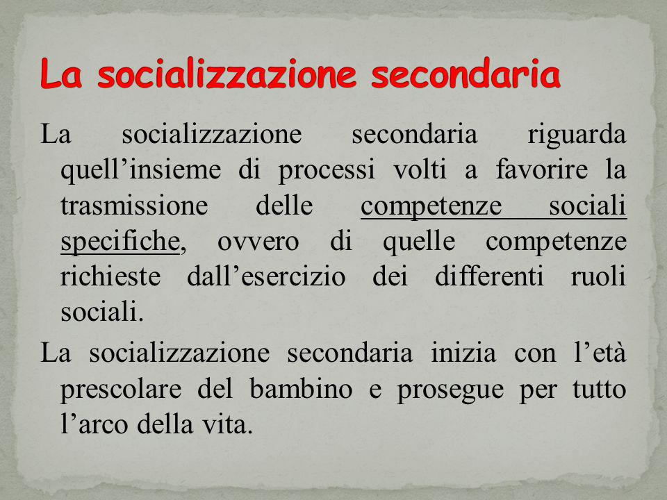 La socializzazione secondaria