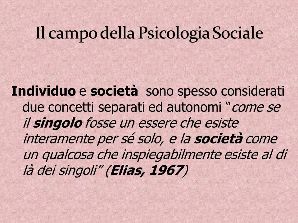 Il campo della Psicologia Sociale